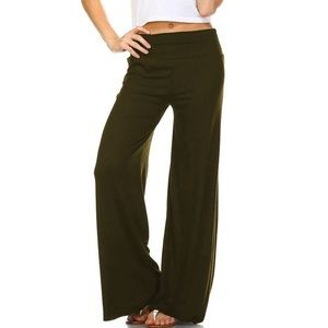 ❗️NEW❗️Best Palazzo Pants Ever Olive Green XL soft
